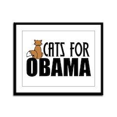 Cats for Obama Framed Panel Print