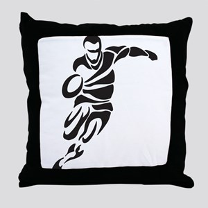 Rugby Player Throw Pillow