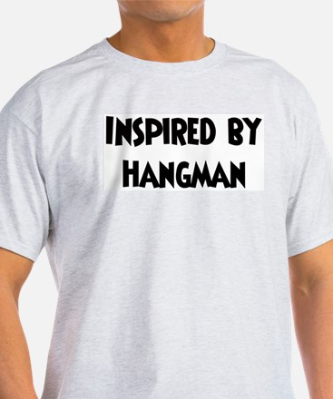 Inspired by Hangman Ash Grey T-Shirt