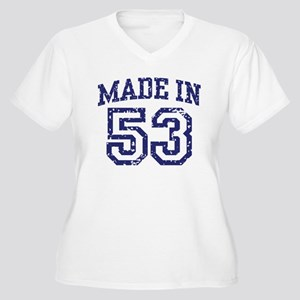 Made in 53 Women's Plus Size V-Neck T-Shirt