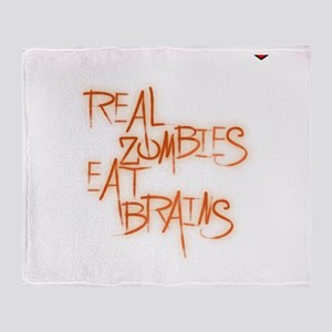Real Zombies Eat Brains! Page Throw Blanket