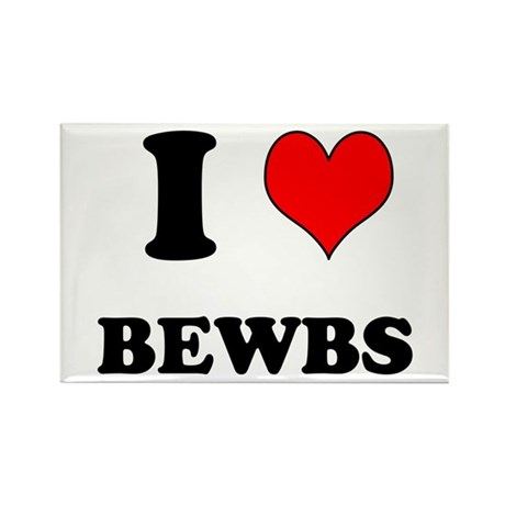 Bewbs Rectangle Magnet By Mikehickey