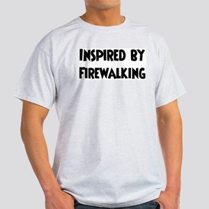 Inspired by Firewalking Ash Grey T-Shirt