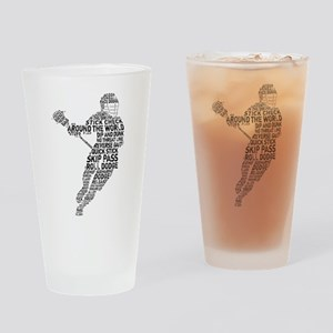 Lacrosse LAX Player Drinking Glass