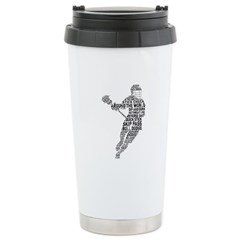 Lacrosse LAX Player Stainless Steel Travel Mug