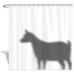 Pygmy Goat Shadow Shower Curtain