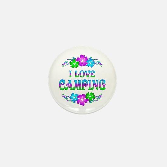 Camping Love Mini Button