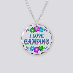 Camping Love Necklace Circle Charm