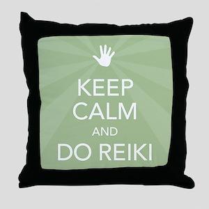Keep Calm Green Throw Pillow