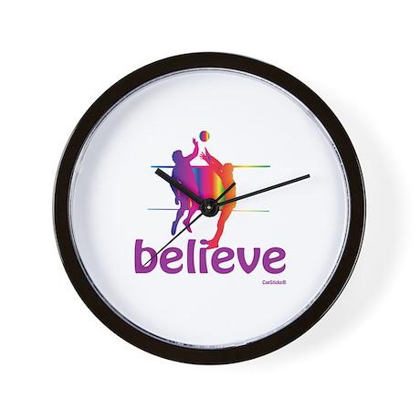 Believe (volleyball) Wall Clock
