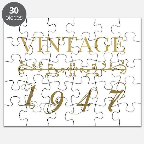 1947 Vintage Gold Puzzle