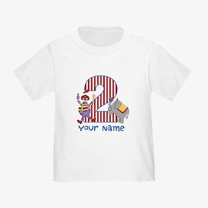 2nd Birthday Circus Toddler T-Shirt