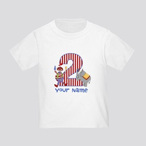 2nd Birthday Circus Toddler T-Shirt