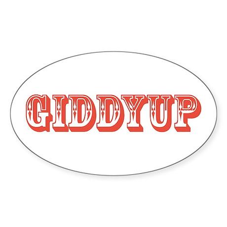 Giddyup Oval Sticker