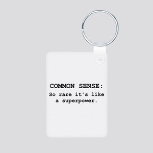 Common Sense Aluminum Photo Keychain