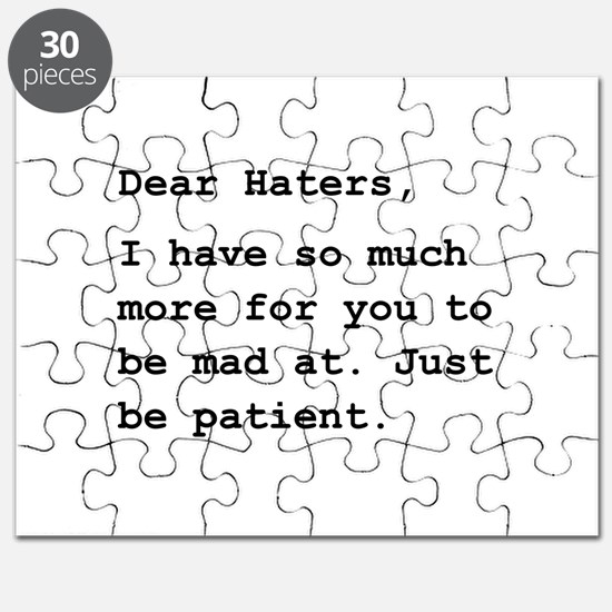 Dear Haters Puzzle