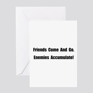 Enemies Accumulate Greeting Card