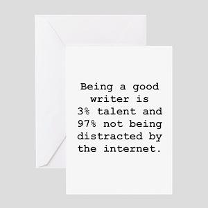 Good Writer Greeting Card