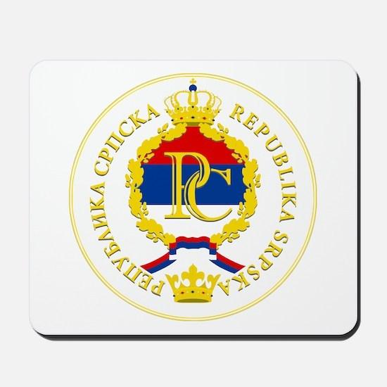 """""""Republika Srpska COA"""" Mousepad"""