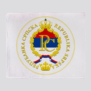 """Republika Srpska COA"" Throw Blanket"
