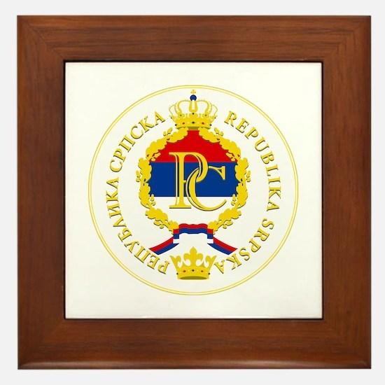 """""""Republika Srpska COA"""" Framed Tile"""
