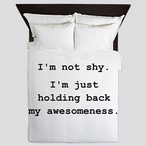 Shy Awesome Queen Duvet