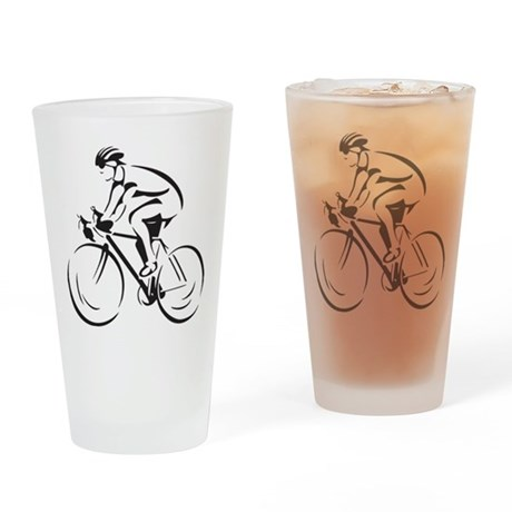Bicycling Drinking Glass