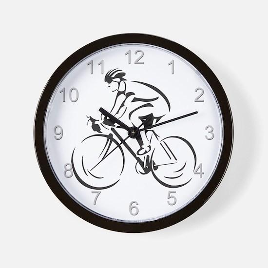 Bicycling Wall Clock