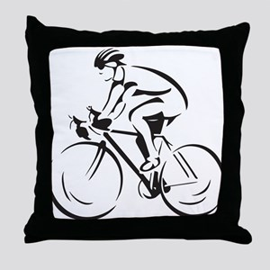 Bicycling Throw Pillow