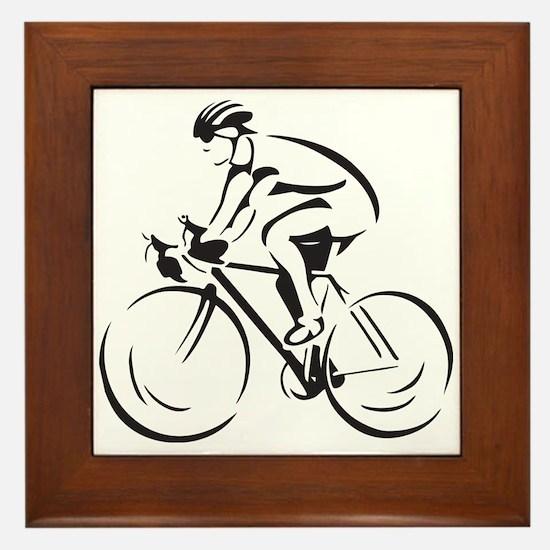 Bicycling Framed Tile
