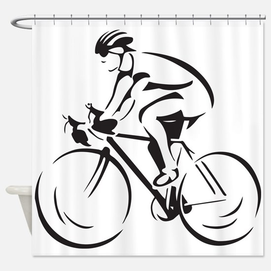Bicycling Shower Curtain