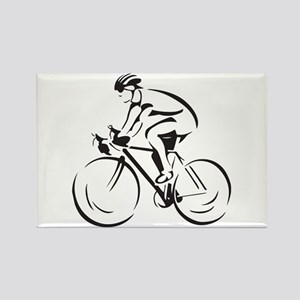 Bicycling Rectangle Magnet