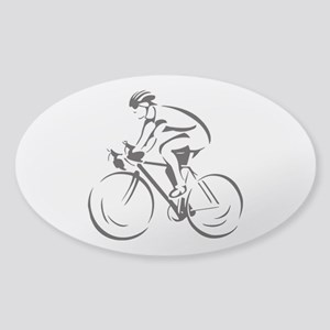 Bicycling Sticker (Oval)