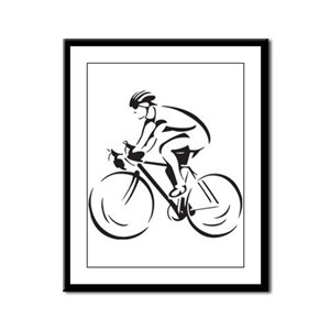 Bicycling Framed Panel Print