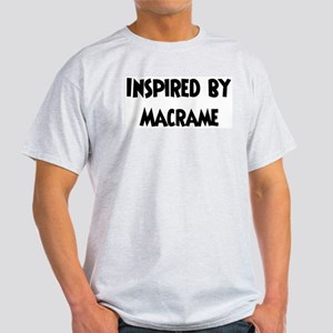 Inspired by Macrame Ash Grey T-Shirt