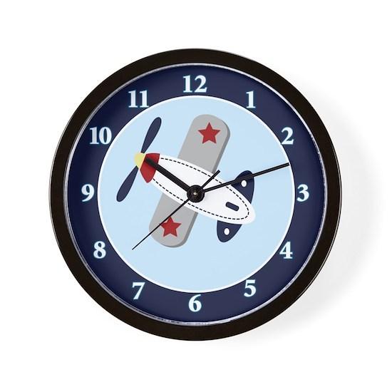 Baby Aviator Airplane Wall clock