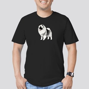 Keeshond Men's Fitted T-Shirt (dark)