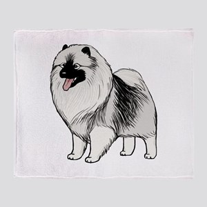 Keeshond Throw Blanket