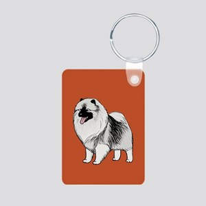 Keeshond Aluminum Photo Keychain