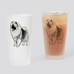 Keeshond Drinking Glass