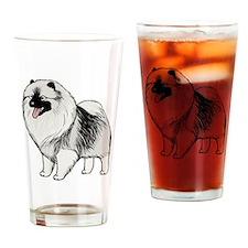 Keeshond Drinking Glass