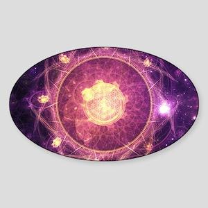 Gold and Royal Purple Fractal Mandala of t Sticker