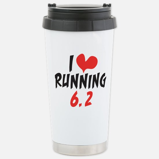 I Heart (love) Running Stainless Steel Travel Mug