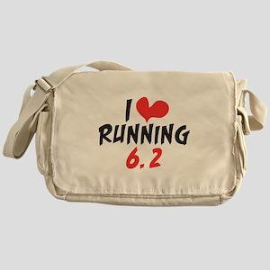 I heart (love) running 6.2 Messenger Bag