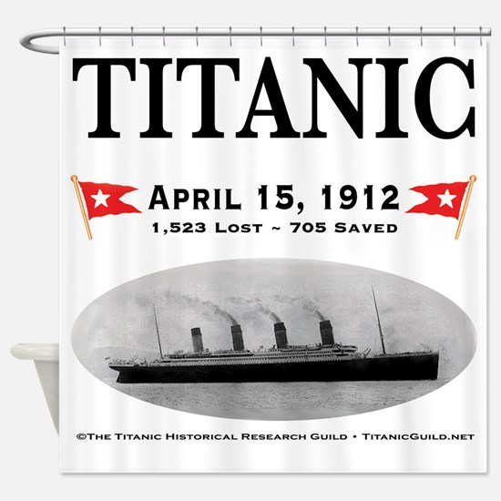 Titanic Ghost Ship (white) Shower Curtain