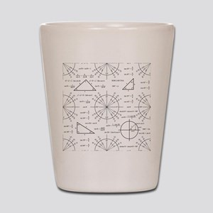 Trig and Triangles Shot Glass