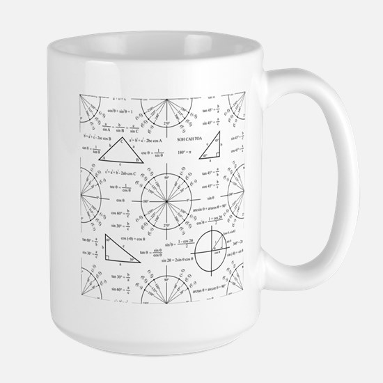 Trig and Triangles Large Mug