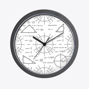 Trig and Triangles Wall Clock