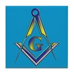 Masonic S&C Blue Lodge Tile Coaster
