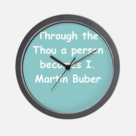 martin buber gifts and appare Wall Clock